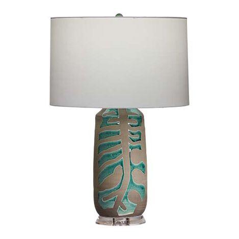 Monstera Earthenware Table Lamp Product Tile Image 096136