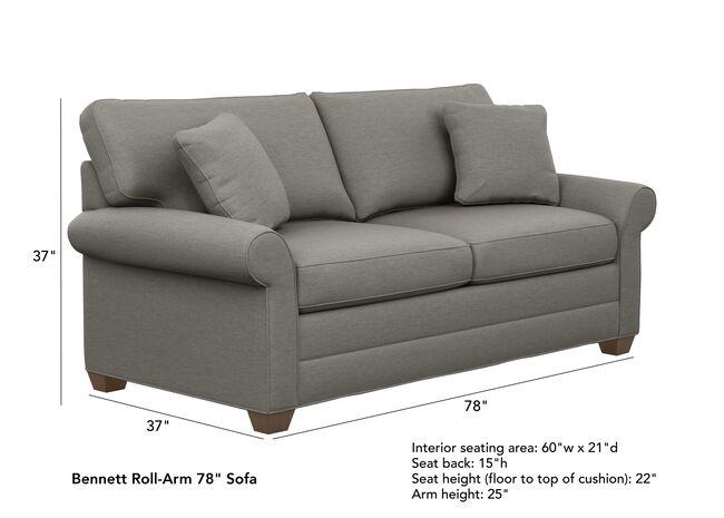 Bennett Roll Arm Sofa Quick Ship