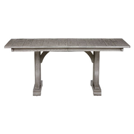 Corin Rough Sawn Trestle Extension Dining Table ,  , large