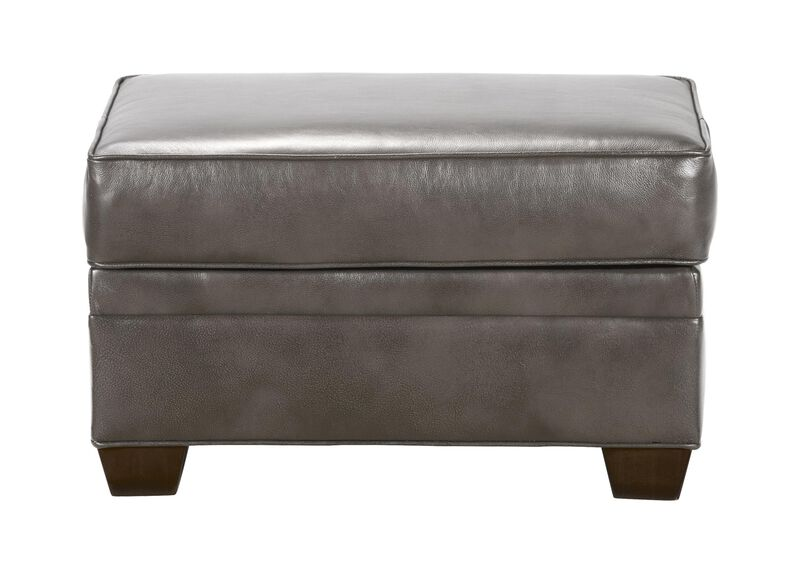 Bennett Leather Ottoman, Quick Ship ,  , large_gray