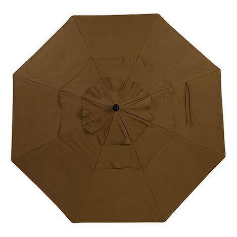 Cocoa Round Market Umbrella Product Tile Hover Image 408050 CO716