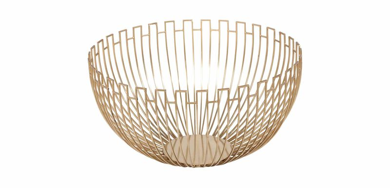 Brass Geometric Wire Bowl