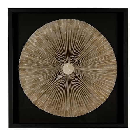 Gold Floral Fan ,  , large