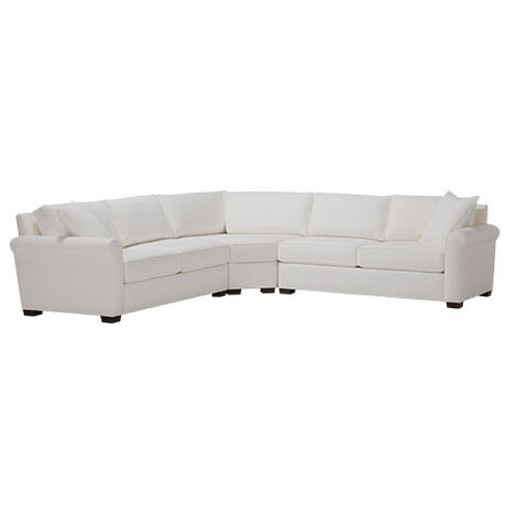 Spencer Roll-Arm Three-Piece Sectional with Wedge Product Tile Image SpencerRA3PW