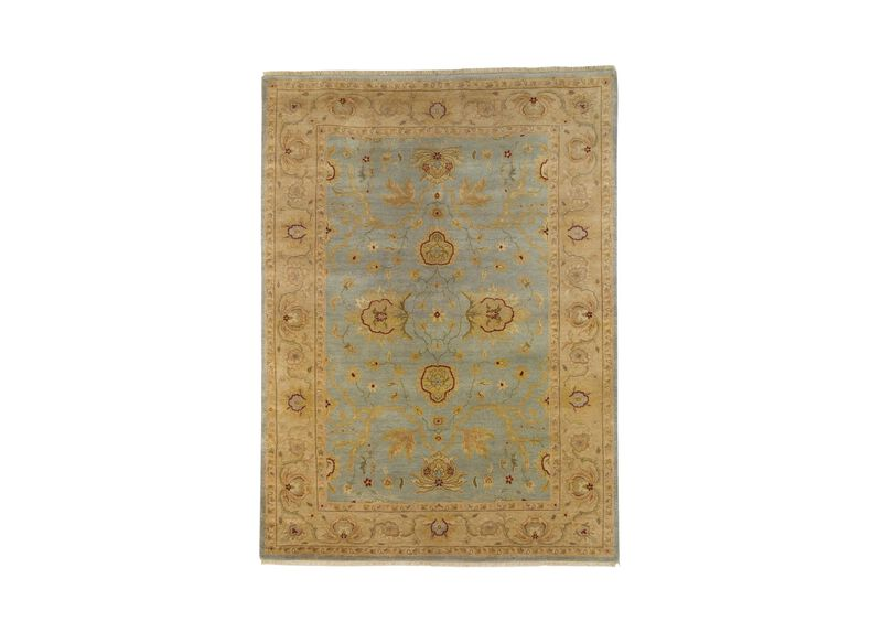 Isfahan Rug, Light Blue/Ivory
