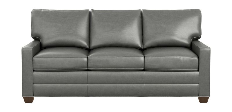 Bennett Track-Arm Leather Sofa, Quick Ship