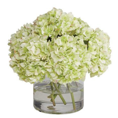 Green Hydrangea Mix in Vase Product Tile Image 442250