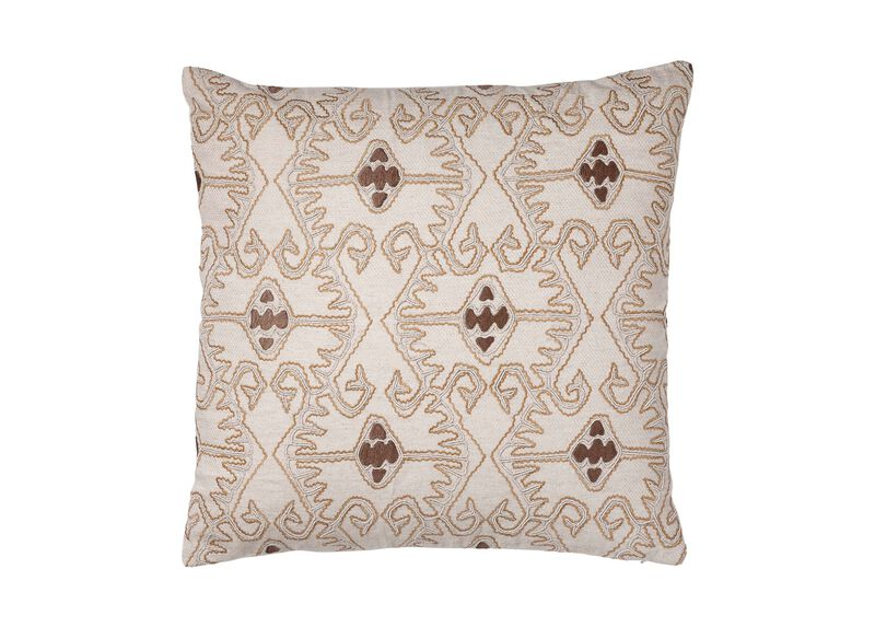 Taupe Embellished Pillow