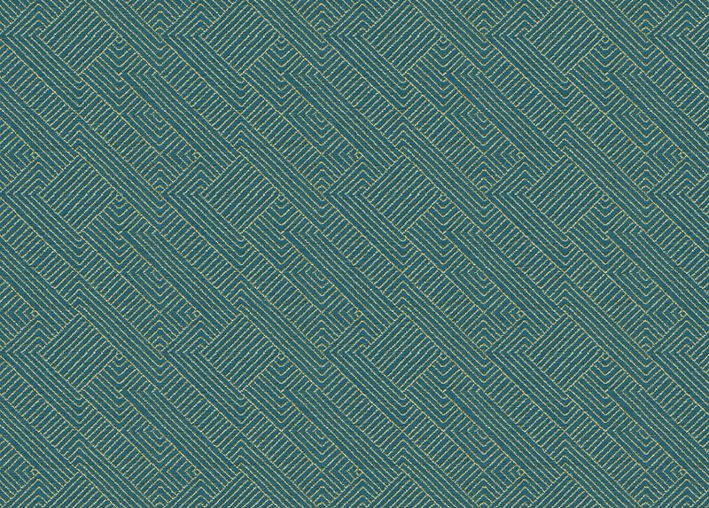 Hadi Teal Fabric by the Yard