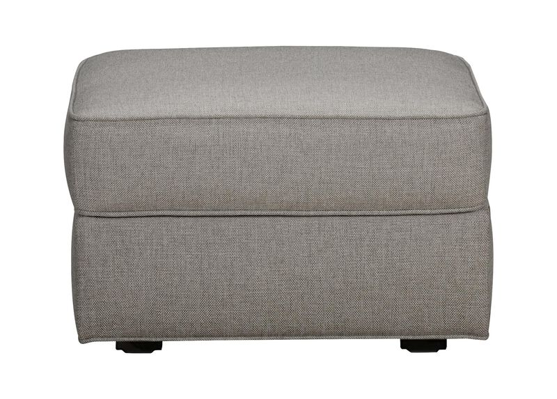Retreat Ottoman, Quick Ship , Hailey Slate (Q1054), solid texture , large_gray