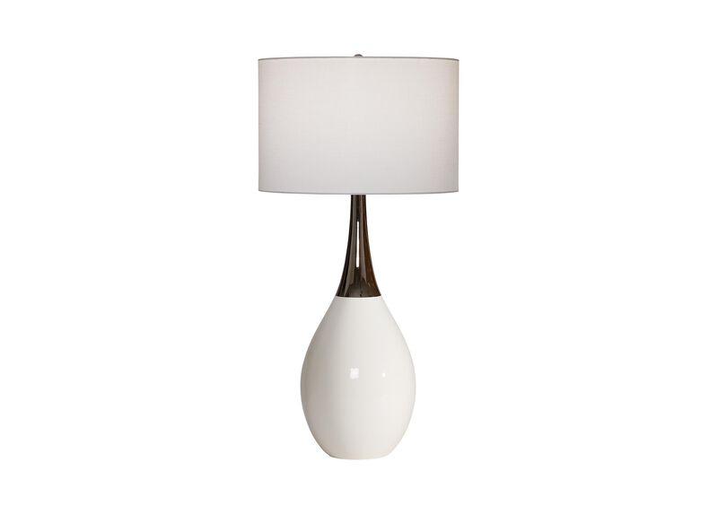 Capri White Ceramic Table Lamp