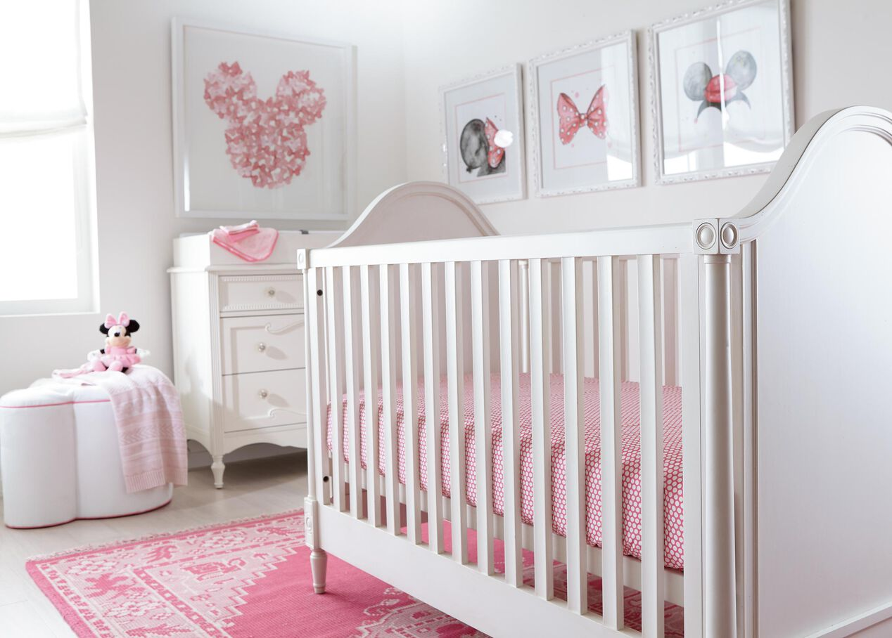 Dotty Crib Sheet Minnie Pink Crib Sheets Ethan Allen