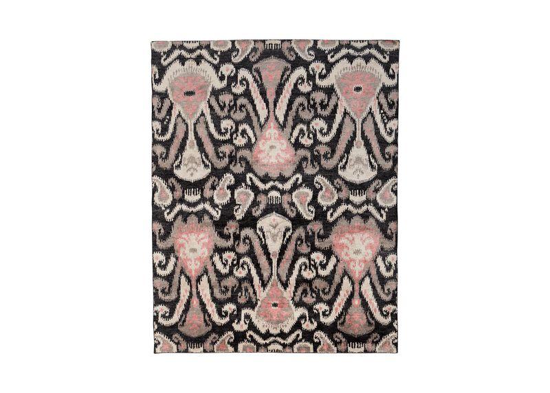 Ikat Rug, Coral Pink ,  , large_gray