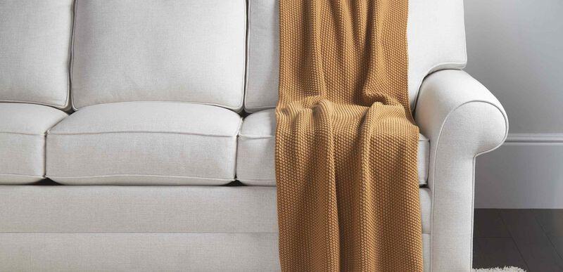 Moss Stitch Knit Throw