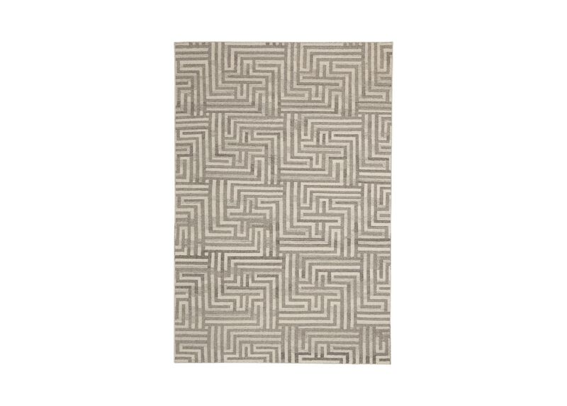 Labyrinth Rug, Ivory/Gray