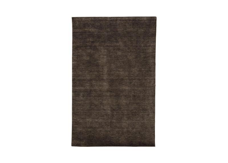Loomed Wool Rug, Charcoal