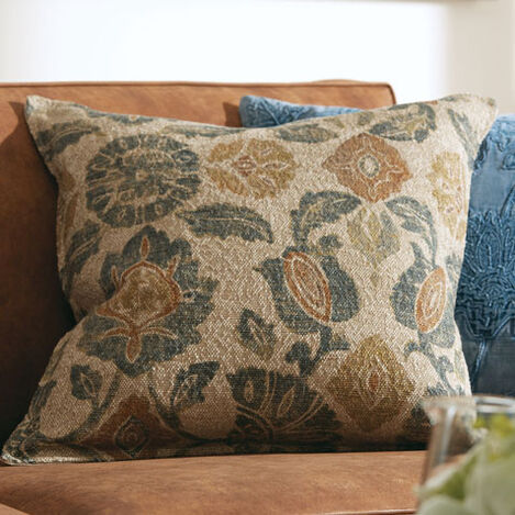 Jacquard Floral Pillow  Product Tile Hover Image 061327
