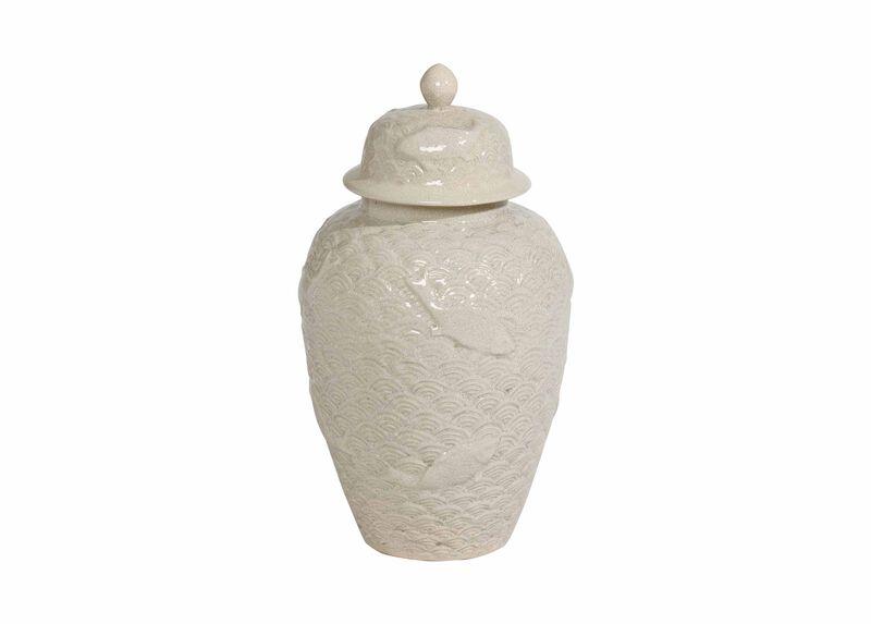 Small Koi Fish Temple Jar ,  , large_gray