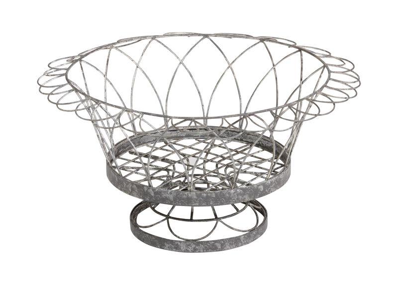 French Wire Round Planter