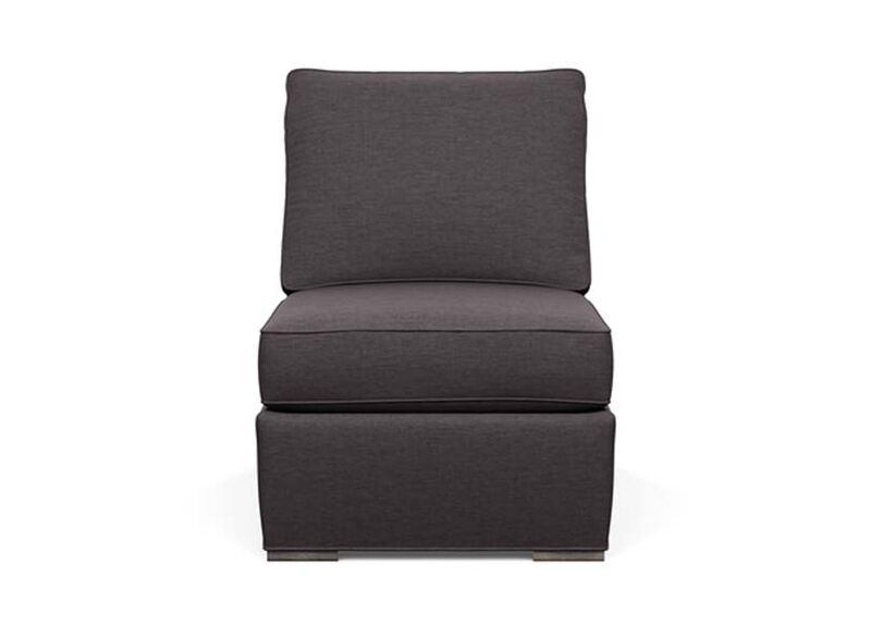 Meeting Place Armless Chair , Zest Charcoal (D1054), strie texture , large_gray