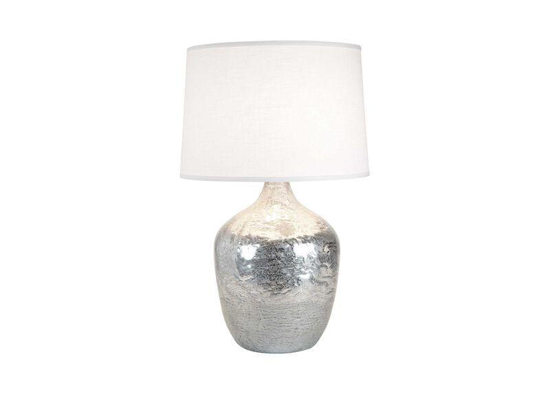 Large Silver Ice Plum Jar Lamp