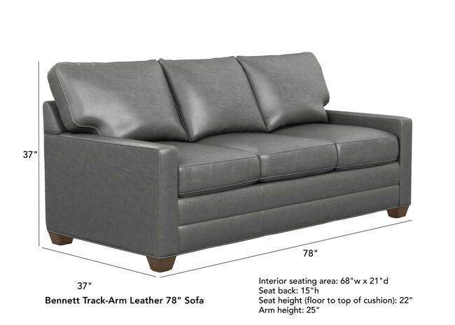 Bennett Track-Arm Leather Sofas, Quick Ship | Sofas ...