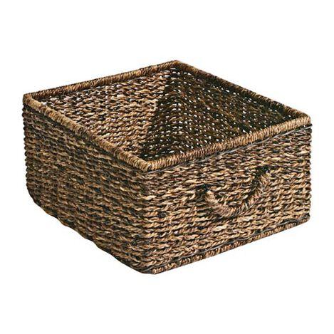 Dark Abaca Storage Basket Product Tile Image 439833