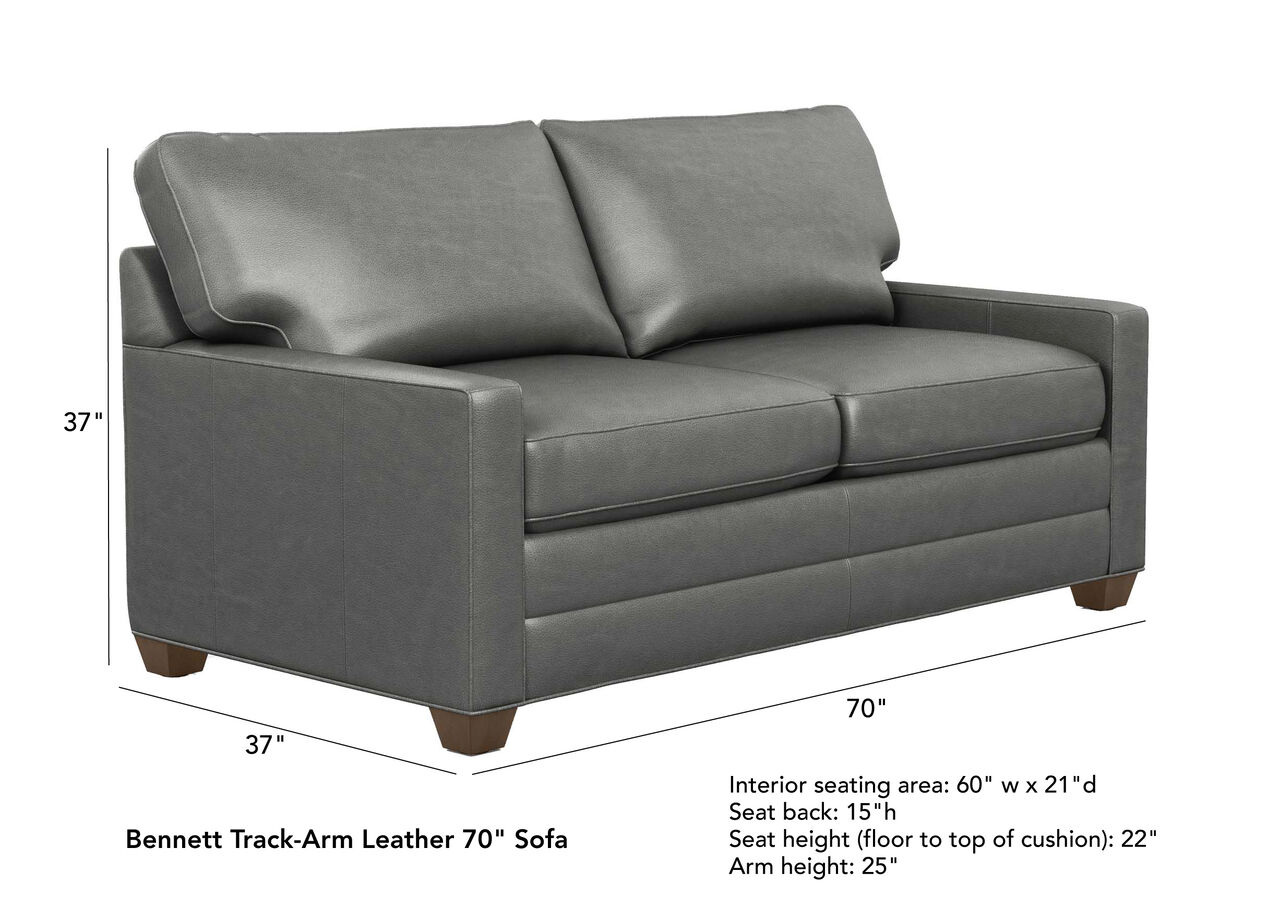 Bennett Track-Arm Leather Sofas, Quick Ship | Sofas & Loveseats ...