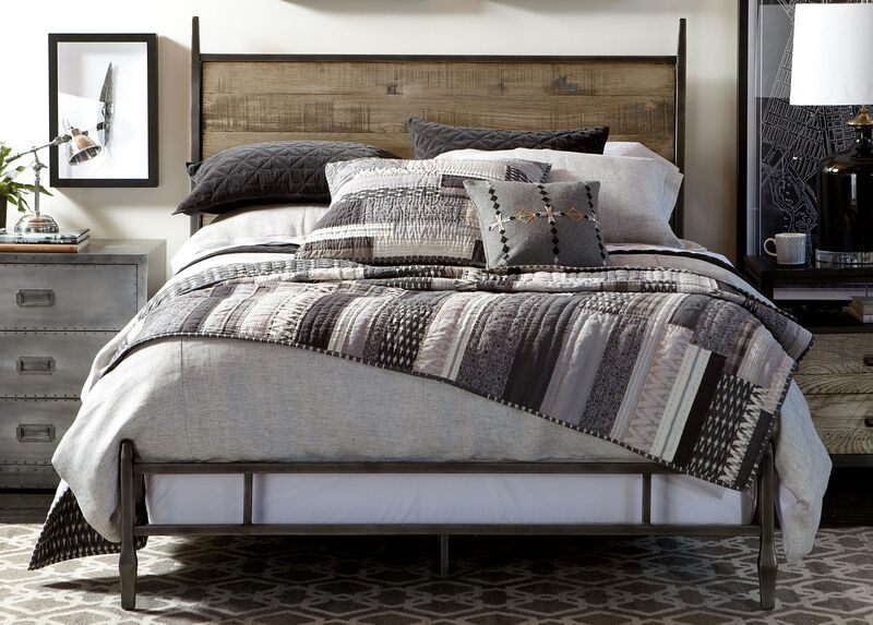 Stillwell Herringbone Duvet Cover and Kennan Quilt ,  , large_gray