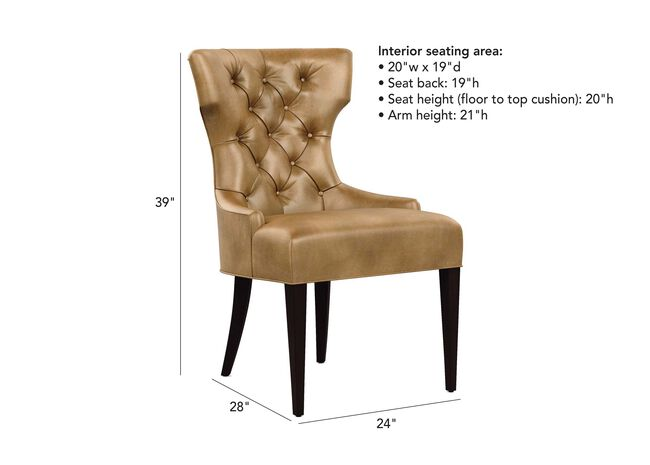 Enjoyable Claudia Leather Dining Chair Arm Host Chairs Ethan Allen Gmtry Best Dining Table And Chair Ideas Images Gmtryco
