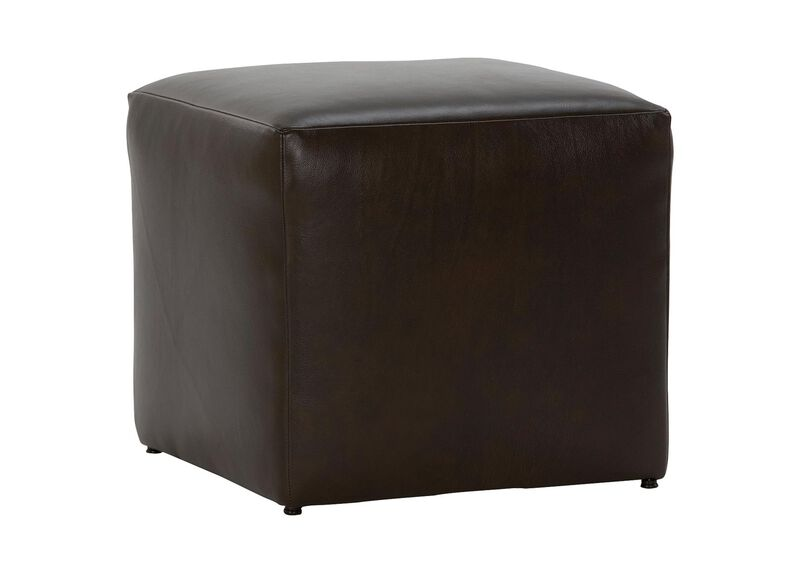 Chad Leather Ottoman