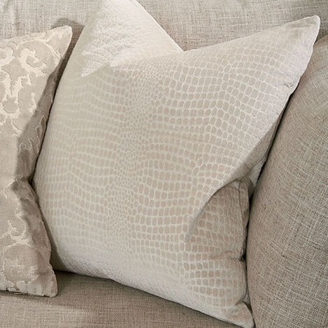 Embossed Velvet Pillow, Taupe Product Tile Hover Image 065665   TAU