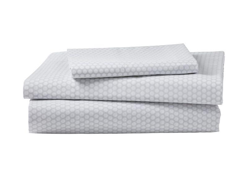 Dotty Sheet Set, Mouse Grey