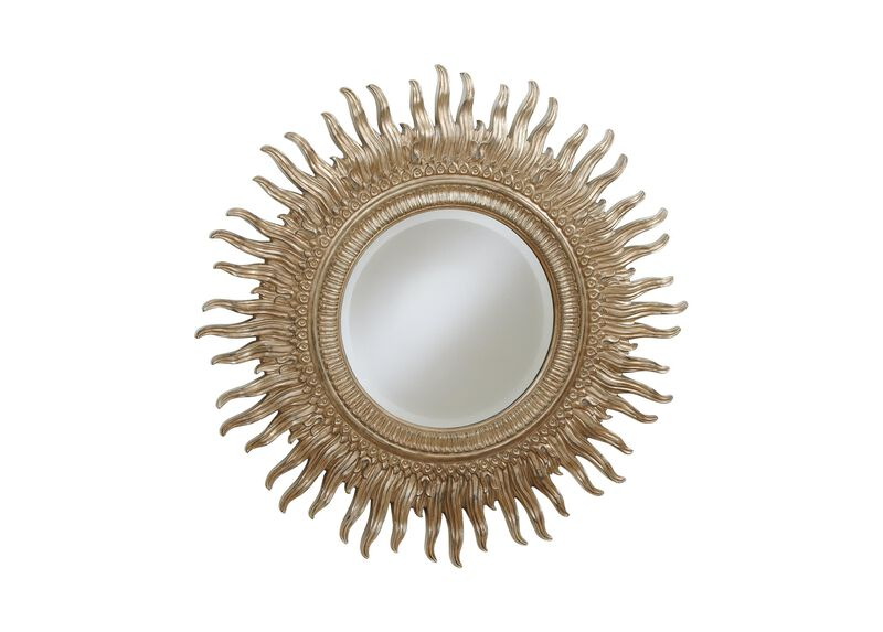 "43"" Silver Sunburst Mirror"