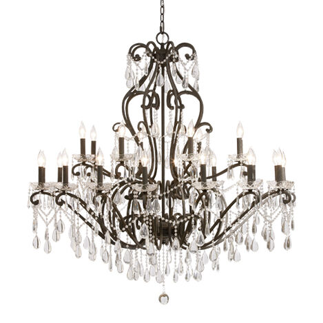 Whitney Slate Grand Chandelier ,  , large