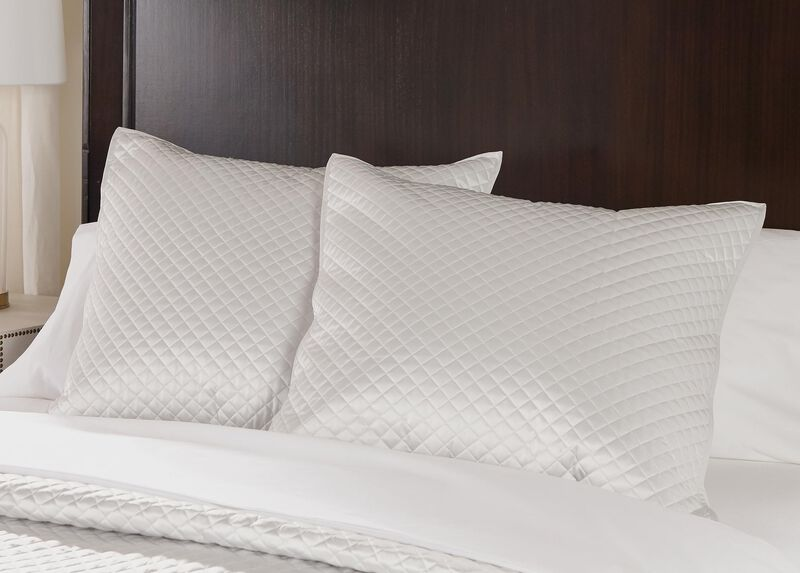 Salena Quilted Euro Sham, Pearl