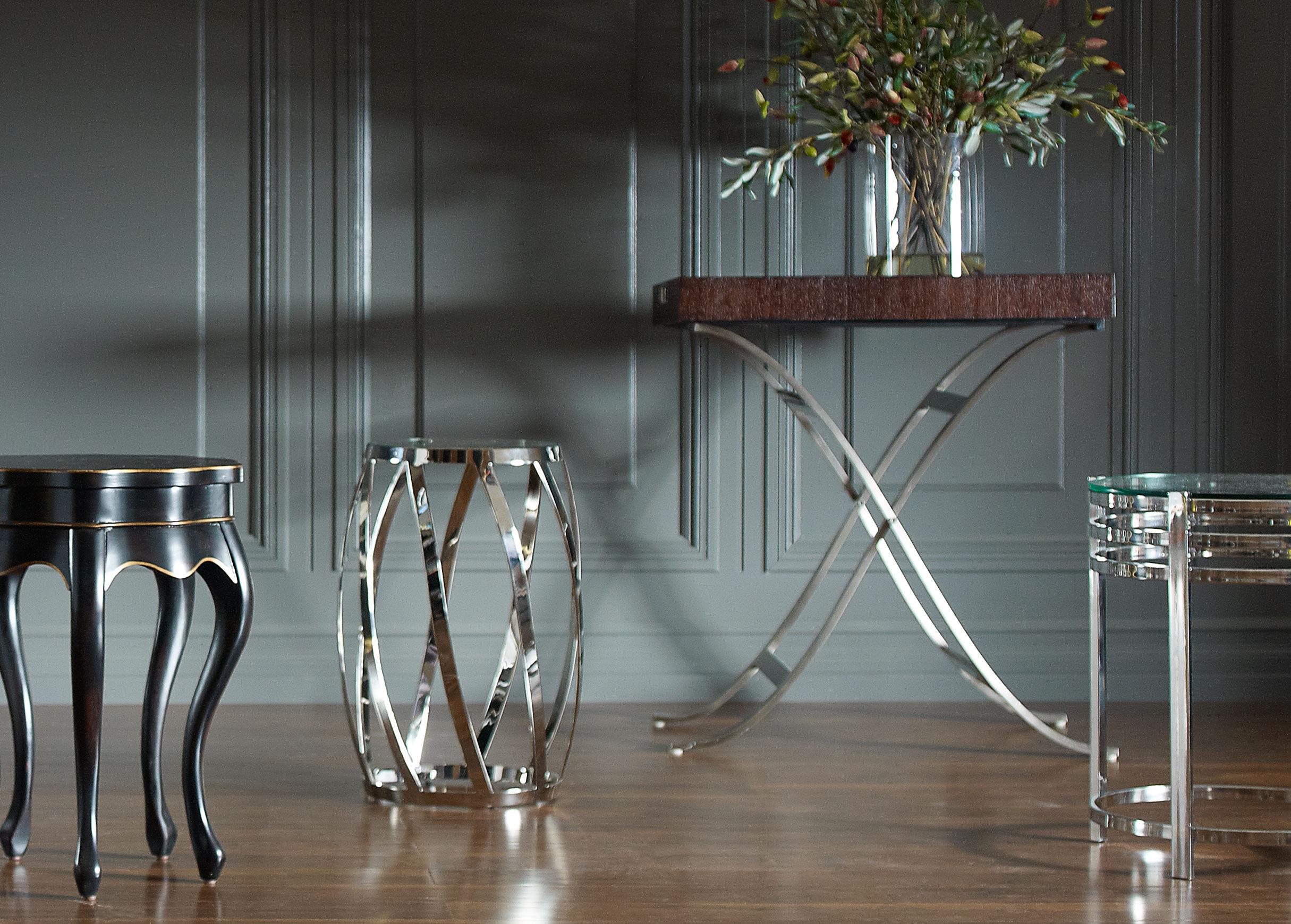 Nickel Side Table , , Alt