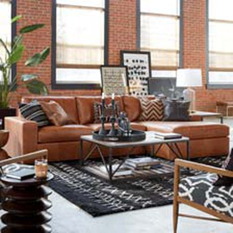 Conway Leather Sectional with Chaise ,  , hover_image