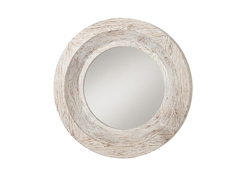 Antique White Reclaimed Mirror ,  , large_gray