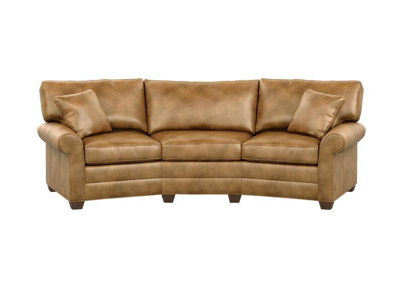 Bennett Conversation Leather Sofa