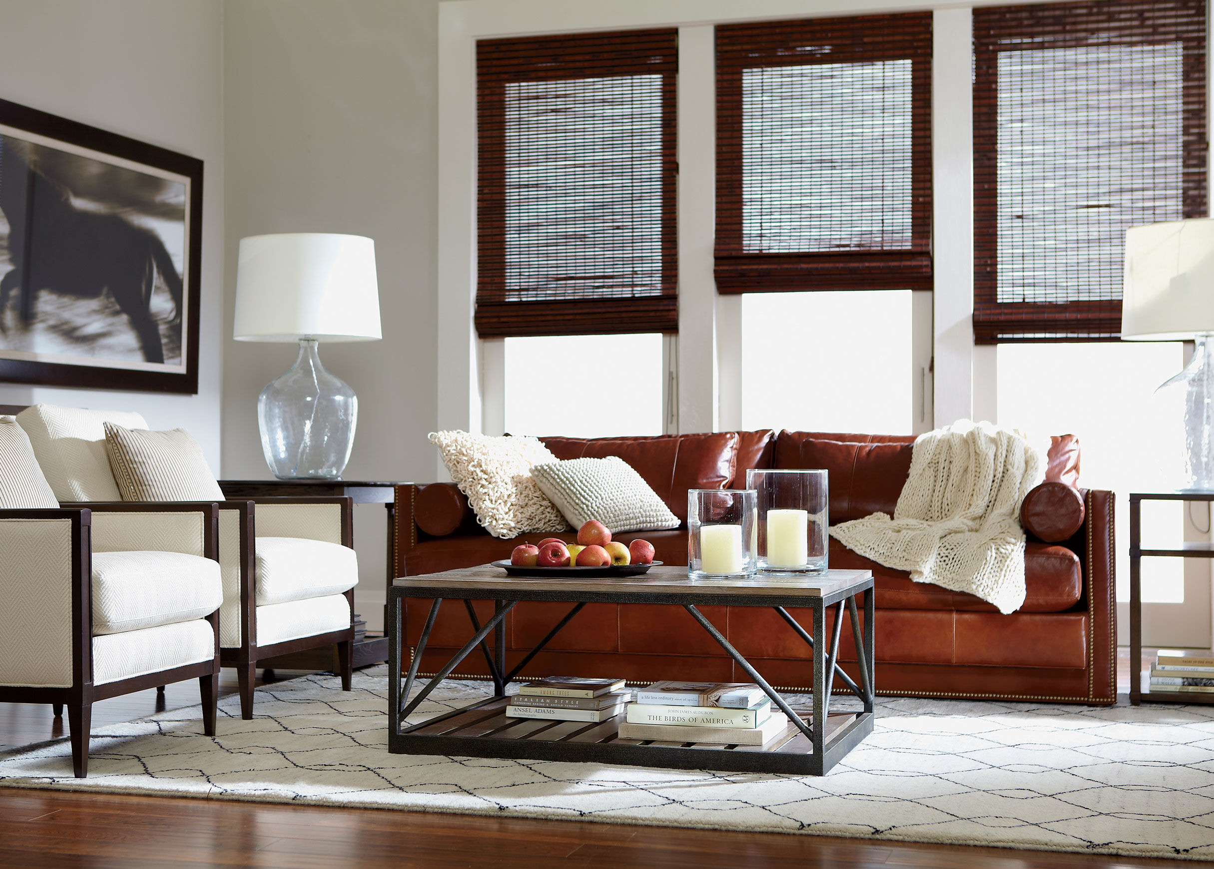 Abington Leather Sofa , , Alt