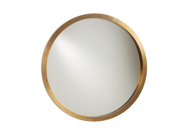 Bellaire Wall Mirror, Satin Brass