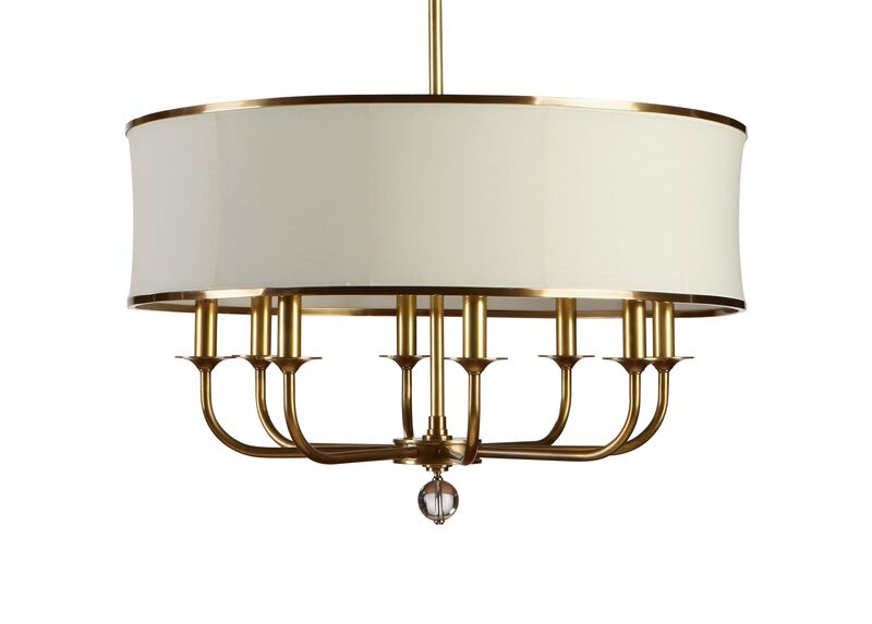 Zoe Eight-Light Brass Chandelier