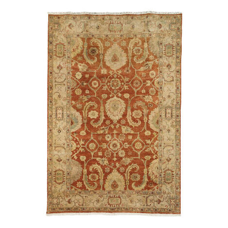 Indo Herat Rug, Rust/Ivory Product Tile Image 041484