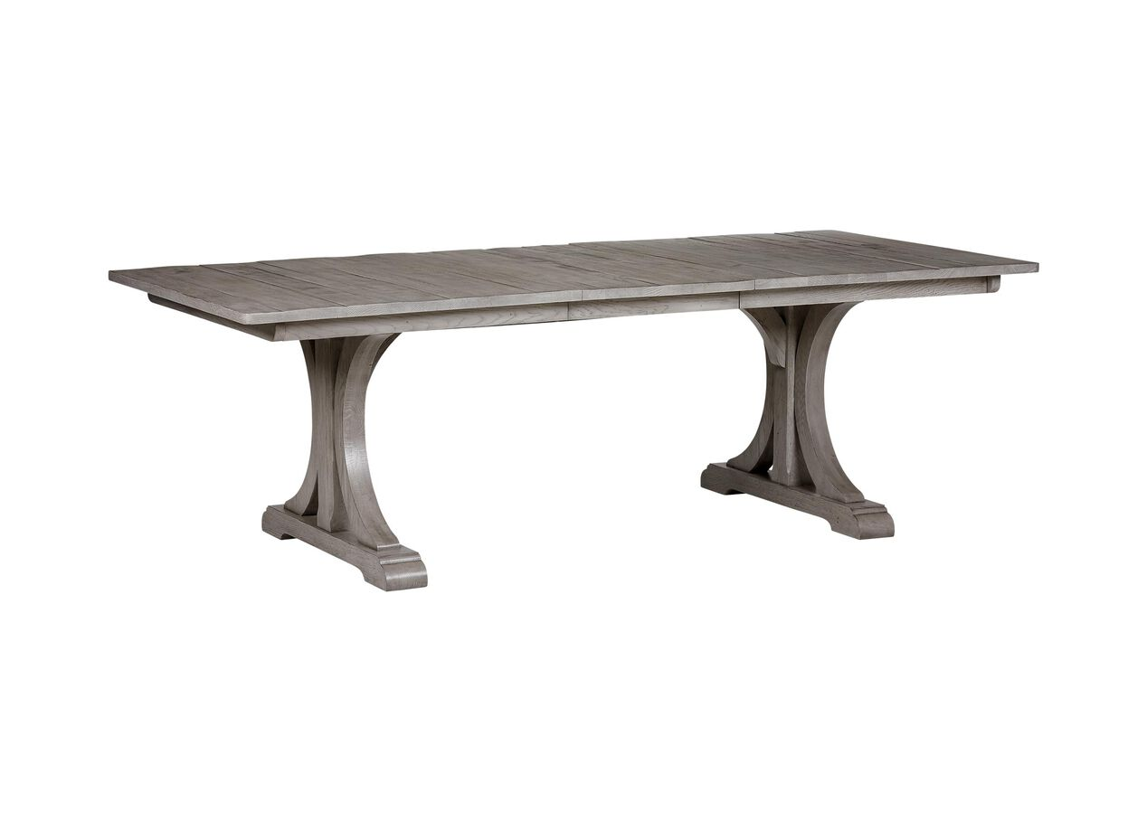 Corin extension trestle dining table dining tables - Extension tables dining room furniture ...