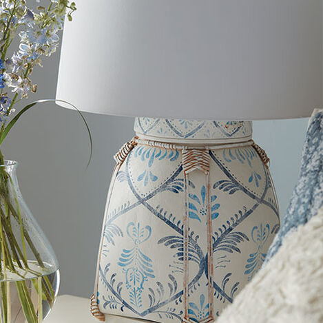 Jasmine Blue Bamboo Table Lamp Product Tile Hover Image 090557