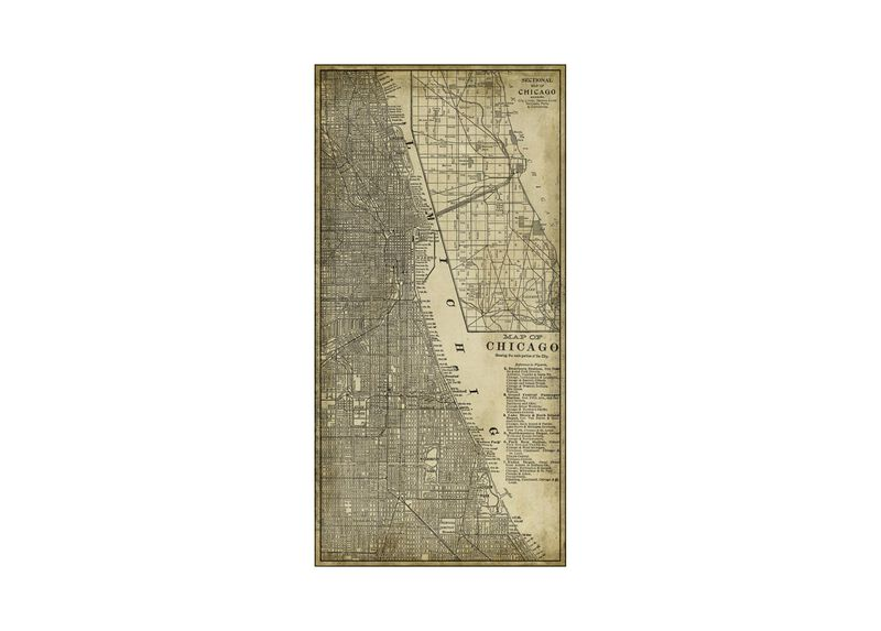 Chicago Map Vintage