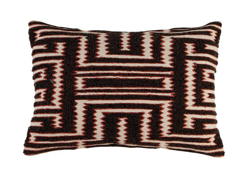 Modern Tribal Bouclé Pillow ,  , large_gray