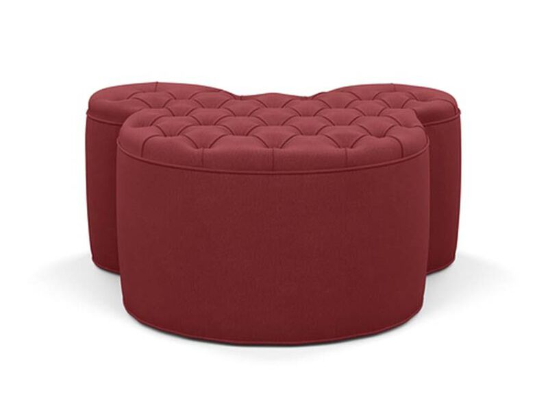 Mickey Mouse Ottoman , Lucky Denim Red (D1200) , large_gray