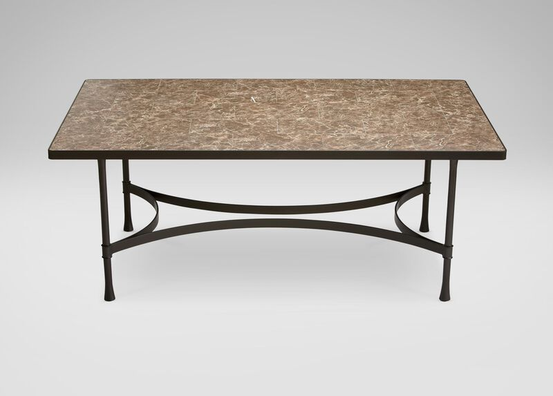 Biscayne Rectangular Dining Table with Dark Porcelain Top ,  , large_gray